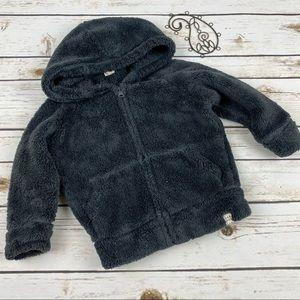 Gap Hoodie 2 Years Gray Zip Up Sweatshirt Fluffy